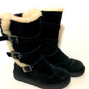 Ugg Maddi buckle shearling boots